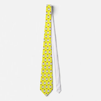 Cute Chickens on Yellow Background Tie