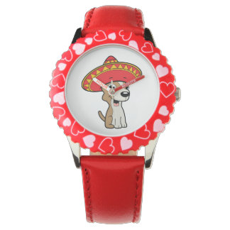 Cute Chihuahua Animation Wrist Watch