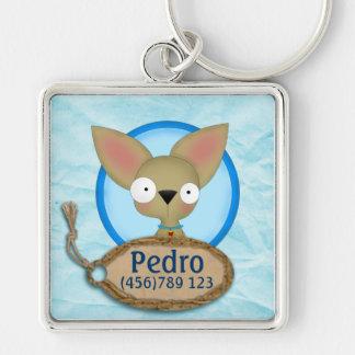 Cute Chihuahua Dog ID Tag Keychains
