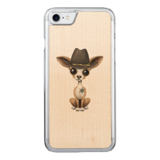 Cute Chihuahua Puppy Sheriff Carved iPhone 8/7 Case