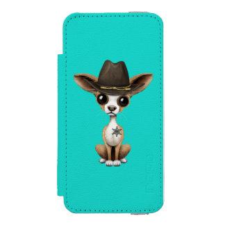 Cute Chihuahua Puppy Sheriff Incipio Watson™ iPhone 5 Wallet Case