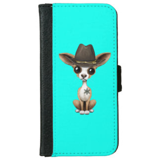 Cute Chihuahua Puppy Sheriff iPhone 6 Wallet Case
