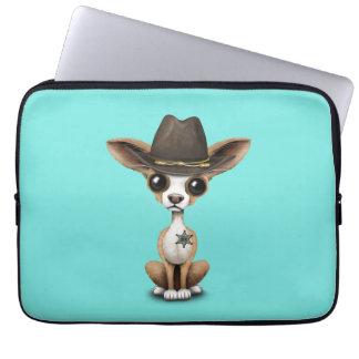 Cute Chihuahua Puppy Sheriff Laptop Sleeve