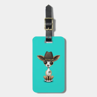 Cute Chihuahua Puppy Sheriff Luggage Tag