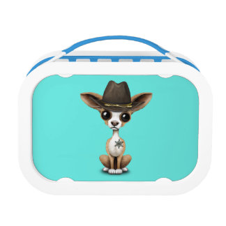 Cute Chihuahua Puppy Sheriff Lunch Box