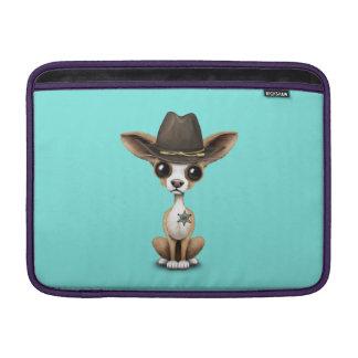 Cute Chihuahua Puppy Sheriff MacBook Sleeve