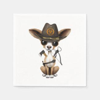 Cute Chihuahua Puppy Zombie Hunter Disposable Serviette