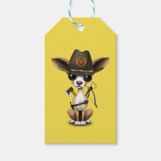 Cute Chihuahua Puppy Zombie Hunter Gift Tags