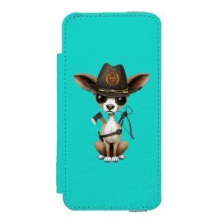 Cute Chihuahua Puppy Zombie Hunter Incipio Watson™ iPhone 5 Wallet Case