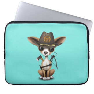Cute Chihuahua Puppy Zombie Hunter Laptop Sleeve