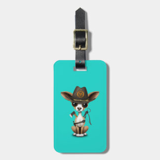 Cute Chihuahua Puppy Zombie Hunter Luggage Tag