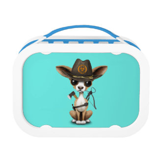 Cute Chihuahua Puppy Zombie Hunter Lunch Box
