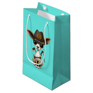 Cute Chihuahua Puppy Zombie Hunter Small Gift Bag
