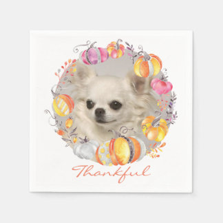Cute Chihuahua Thanksgiving Paper Napkins