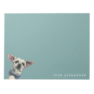 Cute Chihuahua with Bow Tie Drawing Notepad
