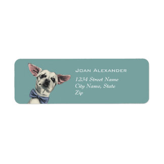 Cute Chihuahua with Bow Tie Drawing Return Address Label
