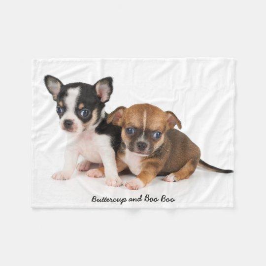 Cute Chihuahuas Photo Fleece Blanket