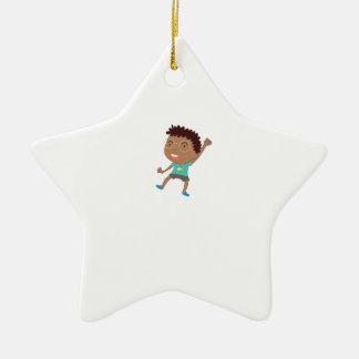 Cute child illustration ceramic star decoration