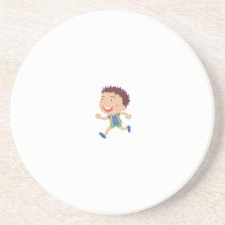 Cute child illustration beverage coasters