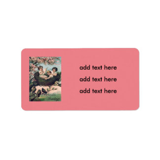 Cute Children Bird Nest Tree Address Label