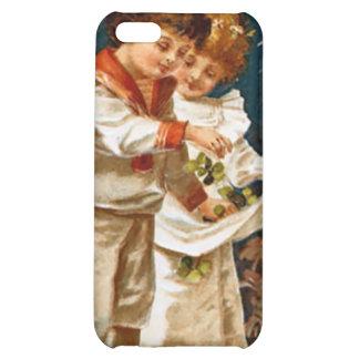 Cute children in white case for iPhone 5C