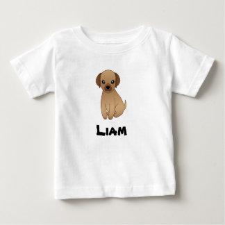Cute children's t-shirt monogram with doggie