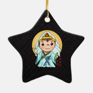 Cute Chinese God Of Compassion Ceramic Star Decoration