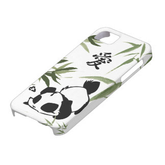"Cute Chinese ""Love"" Panda with Bamboos Case For The iPhone 5"