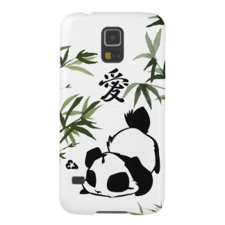 "Cute Chinese ""Love"" Panda with Bamboos Galaxy S5 Case"
