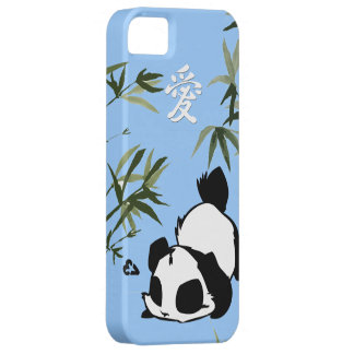 """Cute Chinese """"Love"""" Panda with Bamboos iPhone 5 Cover"""