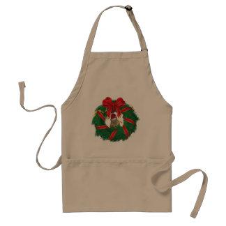 Cute Chipmunk Christmas Wreath Standard Apron