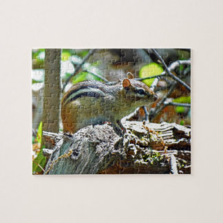 Cute Chipmunk in Forest Photo Jigsaw Puzzle