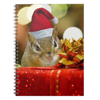 Cute Chipmunk Merry Christmas Notebooks