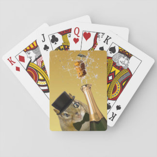 Cute Chipmunk New Year's Eve Party Playing Cards