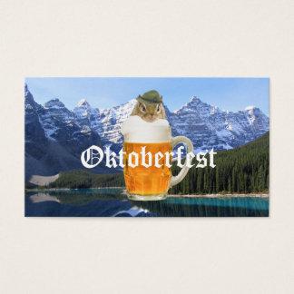 Cute Chipmunk Oktoberfest Mountains Business Card