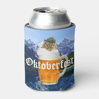 Cute Chipmunk Oktoberfest Mountains Can Cooler
