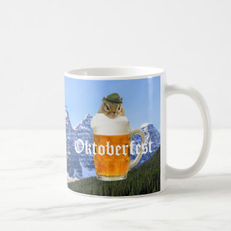 Cute Chipmunk Oktoberfest Mountains Coffee Mug