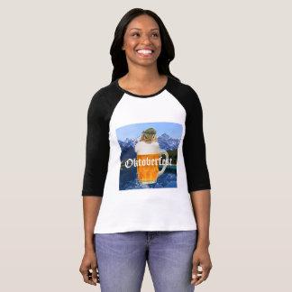 Cute Chipmunk Oktoberfest Mountains T-Shirt