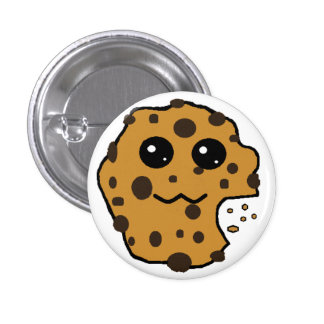 Cute chocolate chip cookie buttons