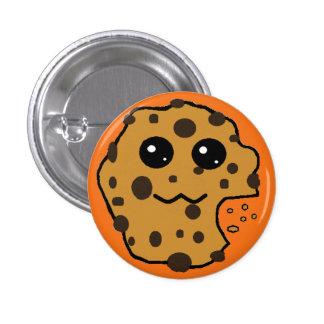 Cute chocolate chip cookie orange pinback button