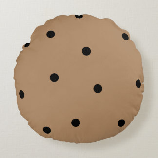 Cute Chocolate Chip Cookie Round Cushion