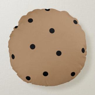 Cute Chocolate Chip Cookie Round Cushion
