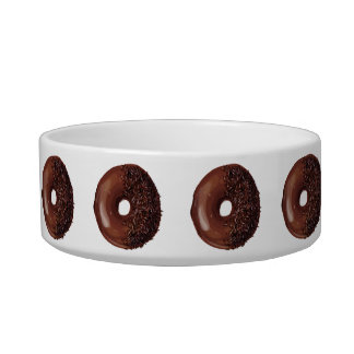 Cute Chocolate Dipped Doughnuts. Bowl