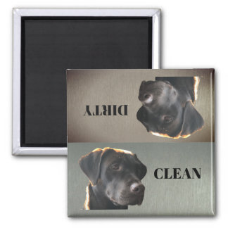 Cute Chocolate Lab Clean Dirty Dishwasher Magnet