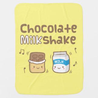 Cute Chocolate Milkshake Doodle For Babies Pramblankets