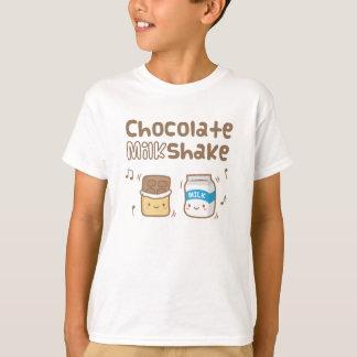 Cute Chocolate Milkshake Doodle For Kids Tees