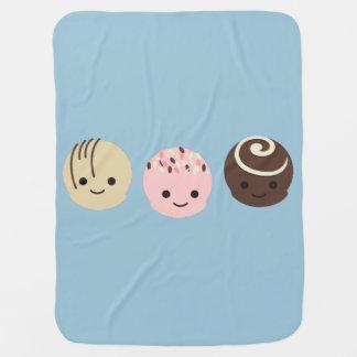 Cute Chocolate Truffles Baby Blanket