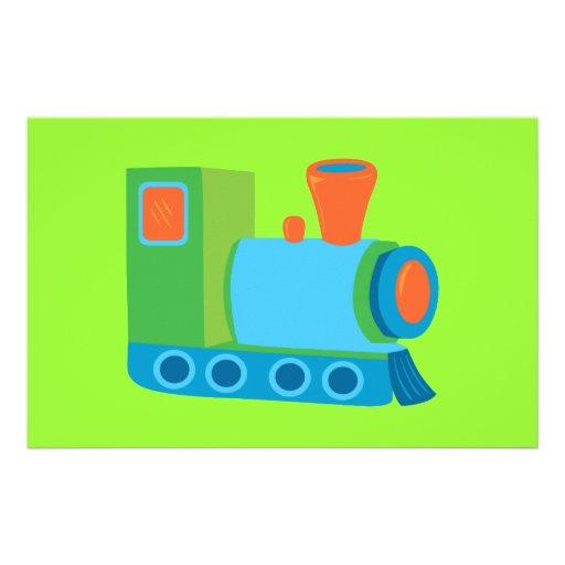 Cute Choo Choo Train Personalized Stationery