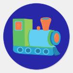 Cute Choo Choo Train Round Sticker