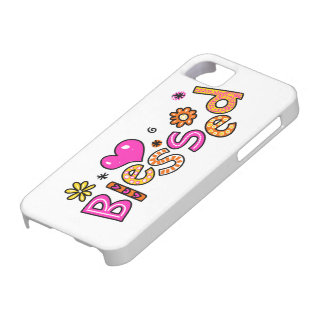 Cute Christian Blessed Greeting Text Expression iPhone 5 Case